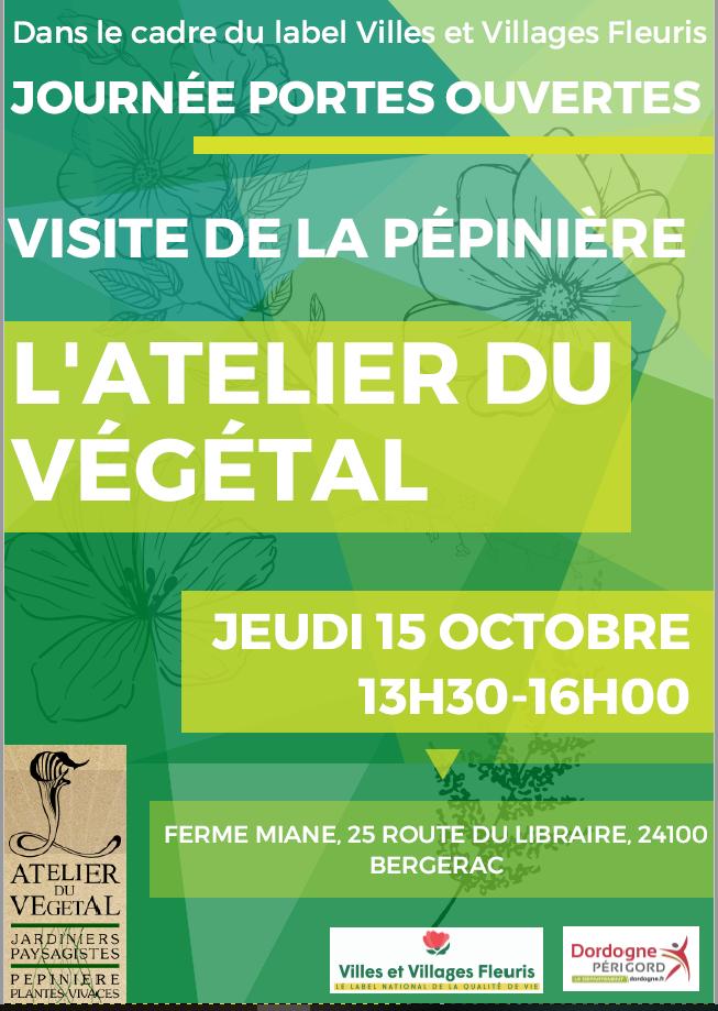 Journée portes ouvertes à «l'atelier du végétal»