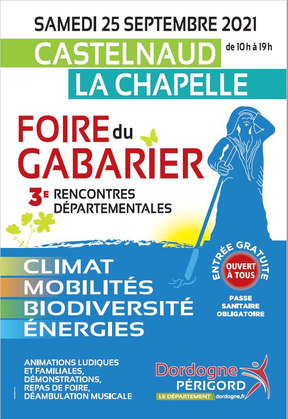 «Foire du Gabarier» 3ème rencontres sur le climat, les mobilités, la biodiversité et les énergies à Castelnaud-la-Chapelle